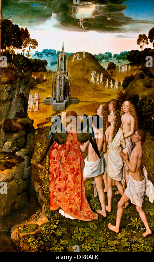 The Ascension of Elected or The Earthly Paradise DIRK  DIRCK DIERIC BOUTS The Elder 1420-1475 Dutch Netherlands - Stock Image
