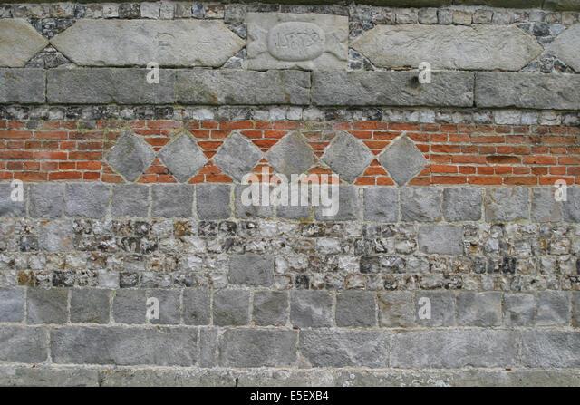 France, Haute Normandie, seine maritime, pays de caux maritime, saint aubin sur mer, hameau du mesnil, architecture - Stock Image