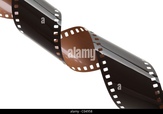 Camera Film with white background - Stock Image