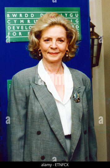 Lauren Bacall, Hollywood Legend aged 66, paying her first visit to Wales, 24th May 1991. Miss Bacall is in Wales - Stock Image