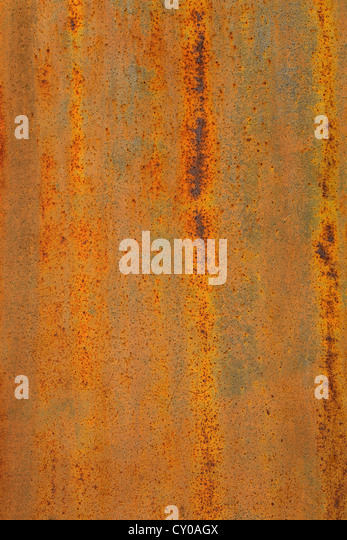 Corroded, rusty metal plate - Stock Image