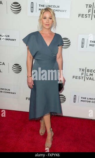 New York, NY USA - April 16, 2016: Christina Applegate attends premiere of Youth of Oregon movie during Tribeca - Stock Image