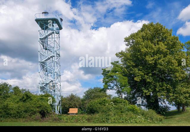 Viewing tower in Duerrenmettstetten - Stock Image