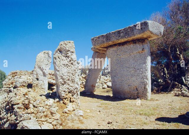 Taula. Talati de Dalt, Menorca island, Balearic Islands, Spain. - Stock Image