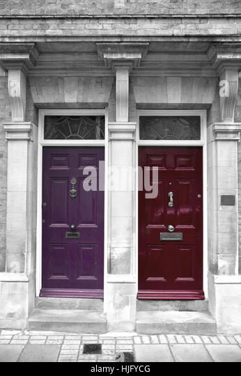 Antique Doors in London, England - Stock Image