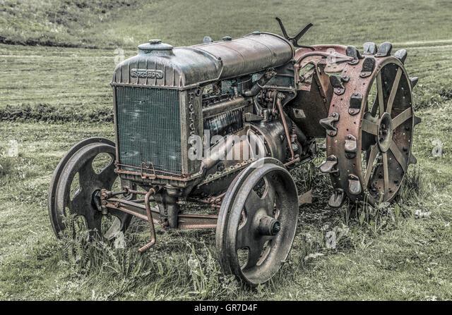 Iron Tractor Wheels : Iron wheels stock photos images alamy