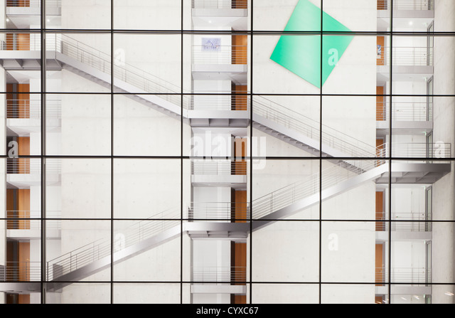 Germany, Berlin, View of Paul-Loebe Building at night - Stock Image