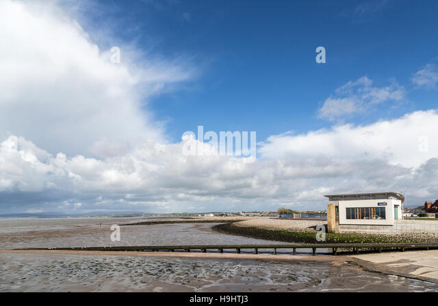 RNLI shop, Morecamble, England, UK - Stock Image