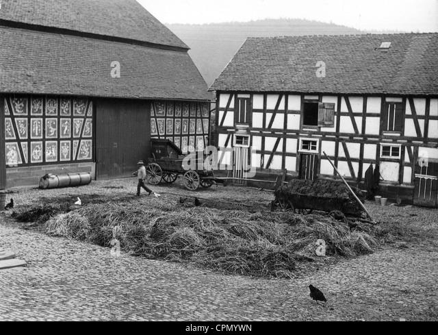 Farm in Hessen in the 1930s - Stock Image