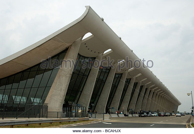 The exterior of Dulles Airport in Washington, D.C. - Stock Image