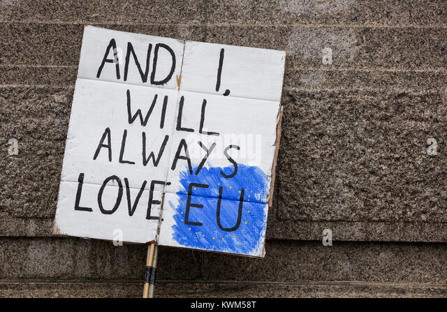 Anti-Brexit protest in Central London - Stock Image