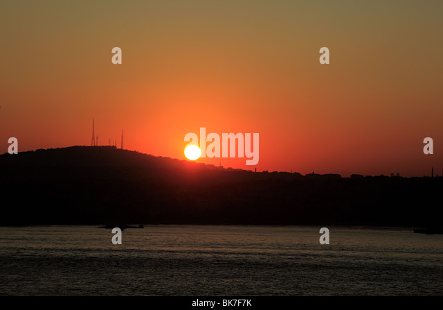 Sunrise in istanbul turkey - Stock Image