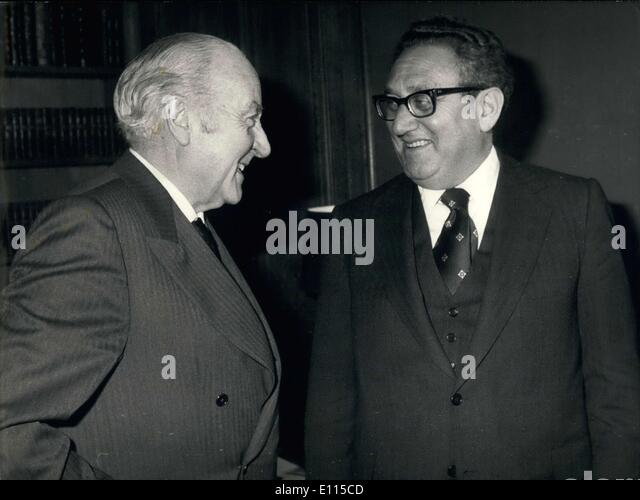 Dec. 17, 1975 - Spanish Minister Foreign Affairs - Stock Image