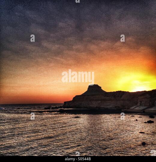 Early morning light on Gozo. - Stock Image