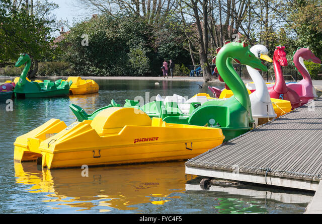 Boating Lake at Alexandra Palace, London Borough of Haringey, Greater London, England, United Kingdom - Stock Image