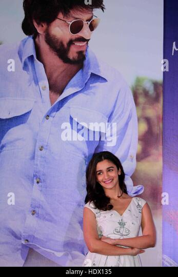 Bollywood actor Alia Bhatt during the press conference of Singapore Tourism Board to promote film Dear Zindagi Mumbai - Stock-Bilder