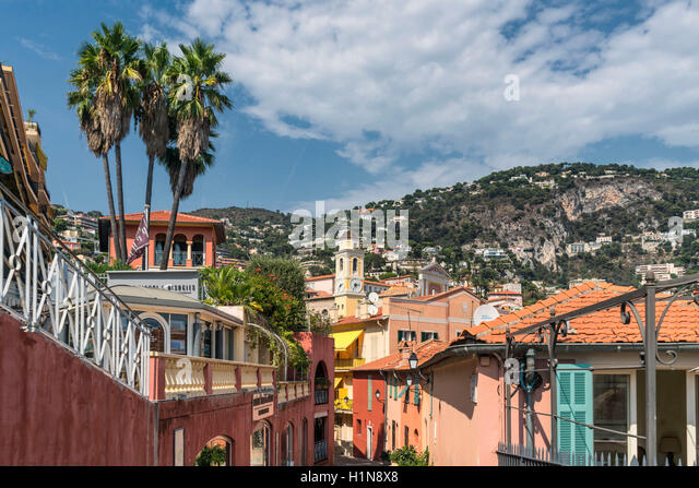 Villefranche sur mer, Cote d Azur, South of France - Stock Image