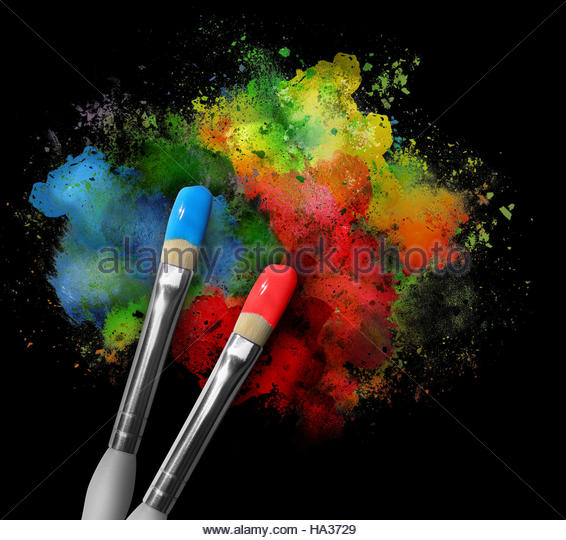 Paint splat stock photos paint splat stock images alamy for White rainbow project