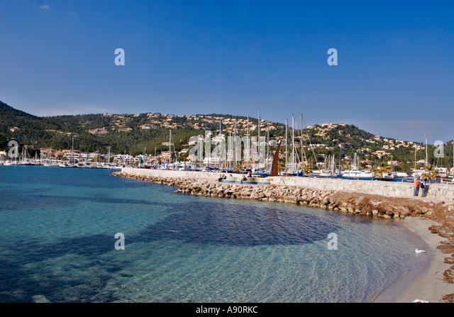Mallorca Poirt d Andratx beach - Stock Image