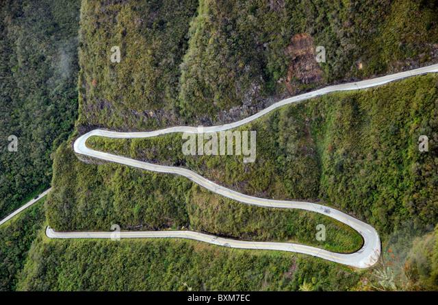 Winding road at Serra do Rio do Rastro Santa Catarina Brazil - Stock-Bilder