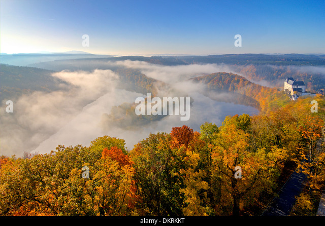 Burgk Castle, Thuringia, Germany - Stock Image