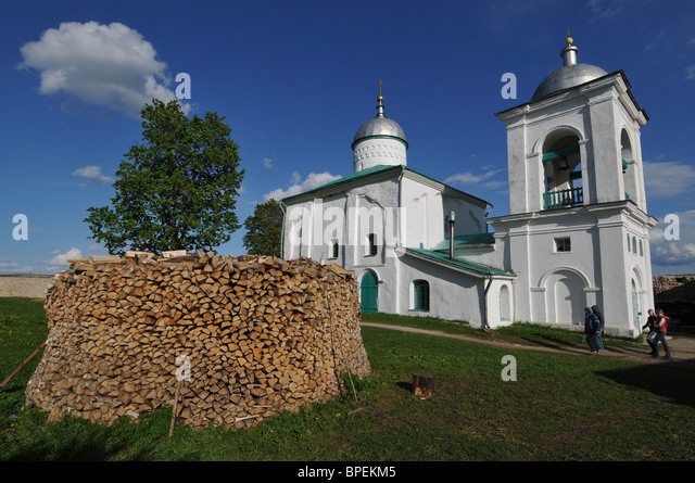 State Historical and Architectural Museum and Reserve Izborsk - Stock-Bilder