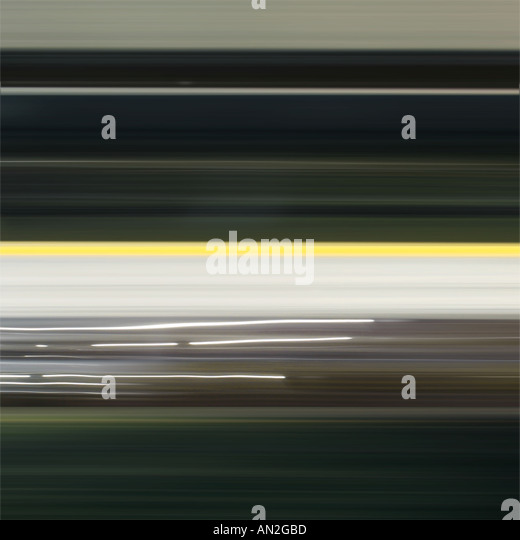 black yellow brown New York train journey - Stock Image