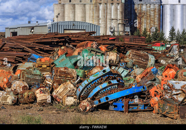 Scrap metal recycling, Thunder Bay, Ontario, Canada. - Stock Image