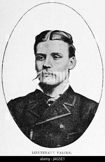 Stanley Founding of Congo Free State 263 Lieutenant Valcke - Stock-Bilder