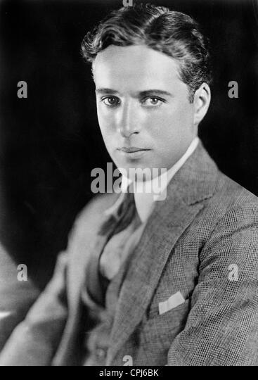 British actor and director Charles Chaplin (1889-1977). - Stock-Bilder
