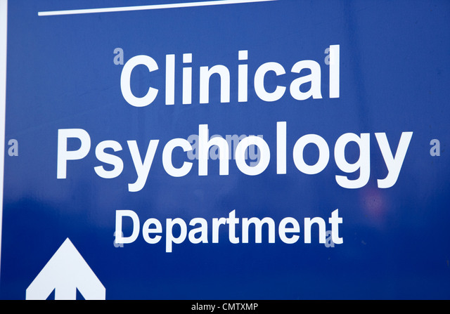 signpost for hospital clinical psychology department uk united kingdom - Stock Image