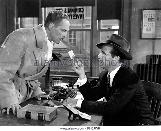 MURDER MY SWEET (1944) - DICK POWELL (right). Courtesy Granamour Weems Collection. Editorial use only. Licensee - Stock Image