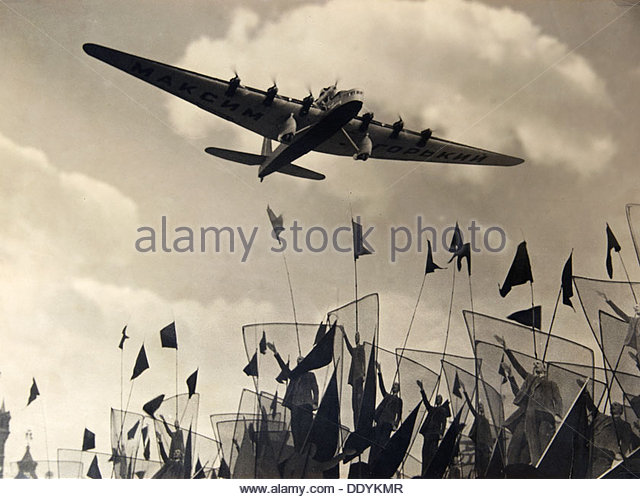 Air parade, 1930s. - Stock Image