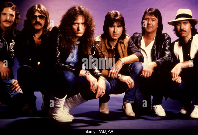 WHITESNAKE  1980s UK rock group with David Coverdale third from left - Stock Image