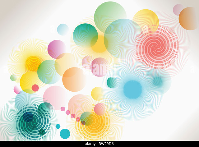 colorful circled pattern - Stock-Bilder