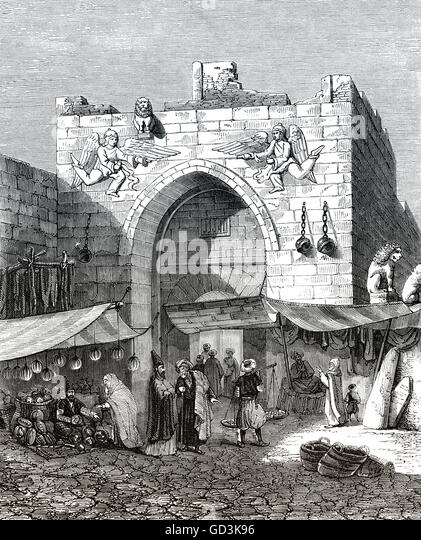 An old gate in Konya, Central Anatolia Region of Turkey - Stock-Bilder