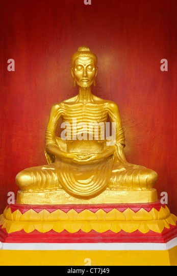 Image of Buddha statue of starving symbol at Nakhon Si Thammarat, Thailand - Stock-Bilder