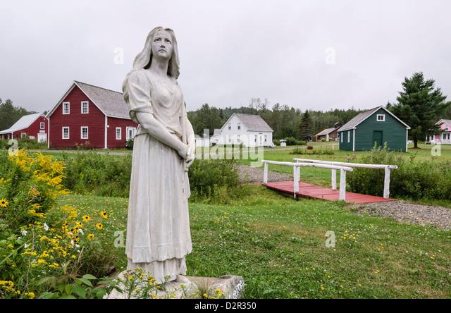 Evangeline statue, Acadian Village, Van Buren, Maine, United States of America, North America - Stock Image