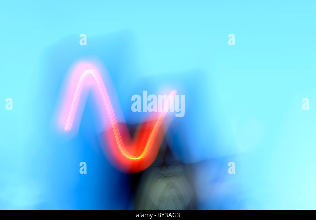 Abstract letter N - Stock Image