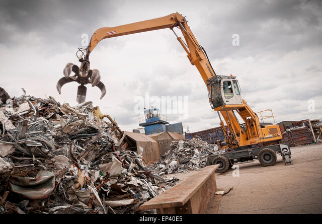 Metal recycling yard - Stock Image