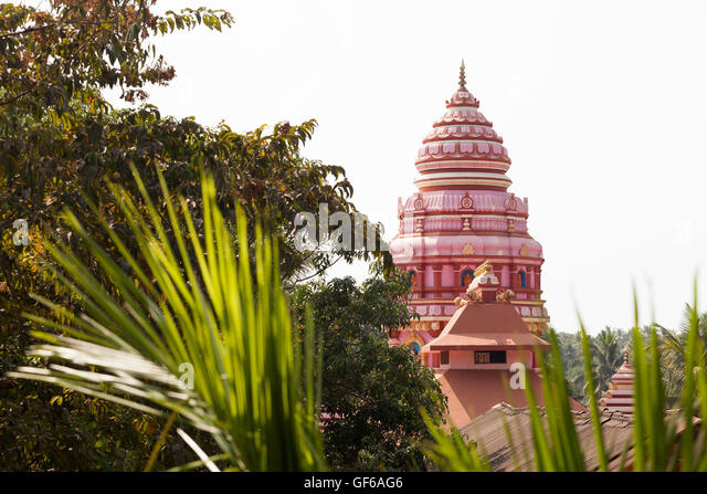 hindu temple dome india goa - Stock Image