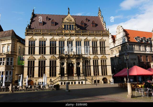 Markt Schuetting building in the Alt Stadt, Bremen, Germany - Stock Image