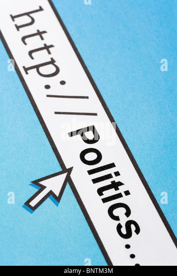 Computer Screen, concept of online politics - Stock Image