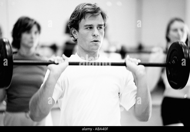 Man Weightlifting - Stock Image