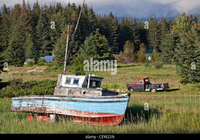 Old fishing boat. Gustavus. Alaska. USA - Stock Image