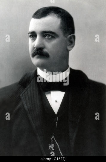 William Barclay 'Bat' Masterson (November 26, 1853 - October 25, 1921) was a folk character of the American - Stock Image