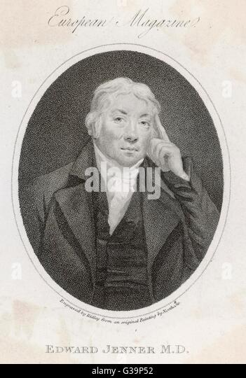 EDWARD JENNER  Physician and pioneer of vaccination       Date: 1749 - 1823 - Stock Image