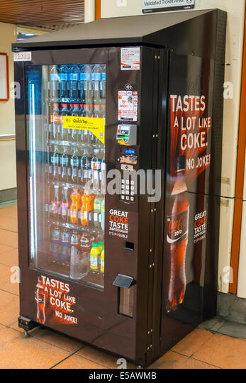 Australia Victoria Melbourne Central Business District CBD Flagstaff railway station metro network City Loop vending - Stock Image