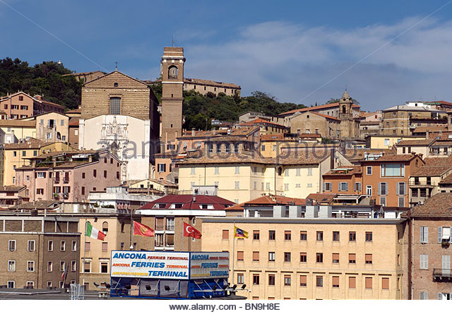 Italy Ancona city view buildings Travel Tourism Roberto Meazza IML Image Group - Stock-Bilder
