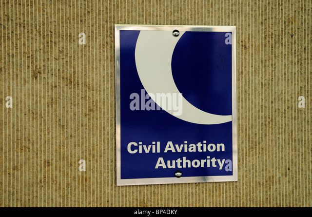 Civil Aviation Authority sign plaque , London, England, UK - Stock Image